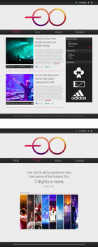 Trance Forever website by Toas7y