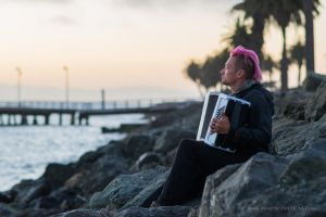 Accordion at Sunset by ImaginemProductions
