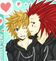 kh2: akuroku by jurieduty