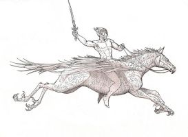 The Hippogriff rider by RobtheDoodler