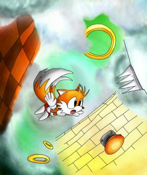 Falling Tails by foxheadTails
