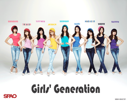 SNSD SPAO WALLPAPER by soshi-addict07