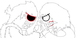 My Dark side VS Jeff the Killer by HankJWimblton