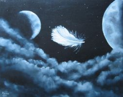 feather in the sky by ronhue