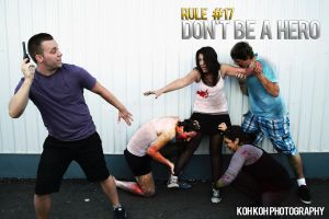 Zombieland Rule 17: No Heros by kelvin-oh89