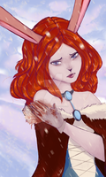 This bunny has lost its freedom by RavenAkaShiroi