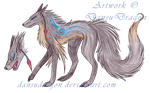 Wolf Hybrid Tribal Adopt - CLOSED by DansuDragon