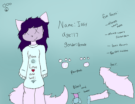 Issys ref sheet by Jaystar-art