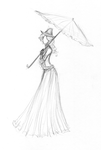 The parasol lady by windbladeicepuppy