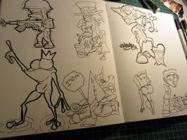 Some old sketches by MarcosMachina