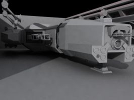 Flamberge Class Super-Heavy Gunship WIP by kadaeux