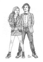 The 11th Doctor+Amy Pond by Neilufa