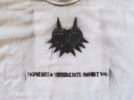 Majora's Mask custom T-Shirt Close up by AxelFlurryofFlame