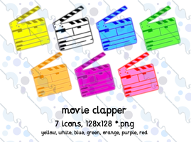 movie clapper mac 7icons 128 by gr8koogly