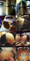 MonHun- Painting and Damascus Helmet progress by KigenNaiteiru