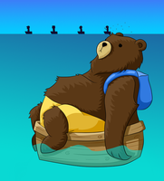 Mogar - Bear in a Boat by BeckaPOW