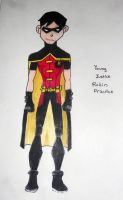 Young Justice Robin Practice by JediSkygirl
