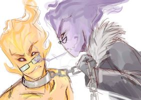 Grillby and... Grillby by KleinesWuschel