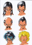Vegeta's Alternative Hair Cuts by chaqito