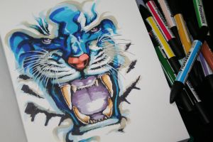 Blue Tiger by Innom