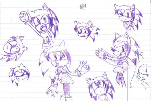 Scrables of Sue The Hedgehog by StephOCH