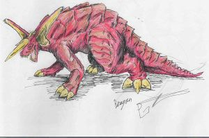 Baragon by hewhowalksdeath