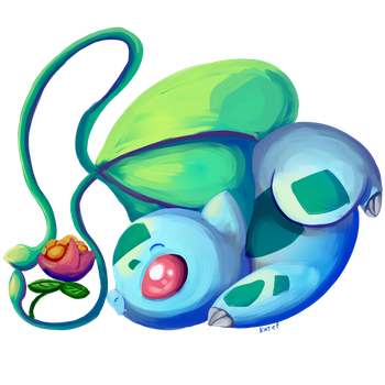 Bulbasaur by AClockworkKitten