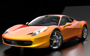Ferrari 458 - playing with materials, lights by Olotocolo