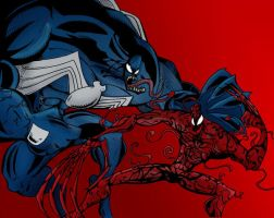 Venom Vs Carnage by artofjared