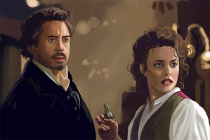 Sherlock Holmes  and Irene by fifoux