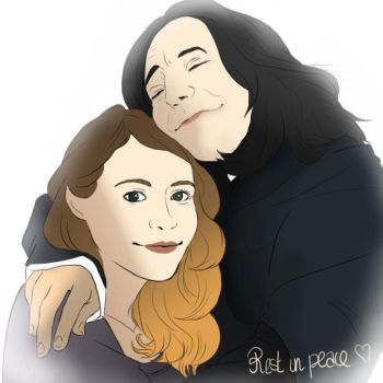 Snape and Lily - Tribute to Alan Rickman by Cisou