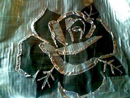 Duct tape shiny rose by con-E