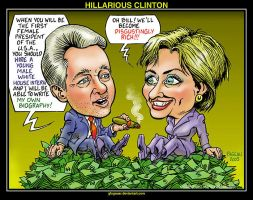 HILLARIOUS CLINTON by glogauer
