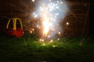 firework sparks by billy-parkinson