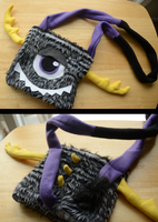 Antler Monster Bag/Purse by CraftedCreatures