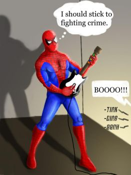 Spiderman Guitar Hero by thesadpencil