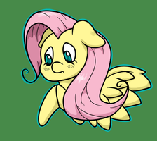 Tiny Fluttershy by thepiplup