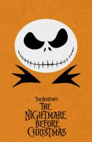 The Nightmare Before Christmas Minimalist Poster by miserym