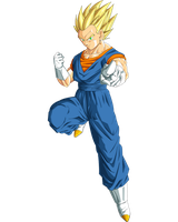 Vegetto ssj2 colored by ruga-rell