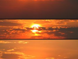 Standard Sunset Triptych by Moizai