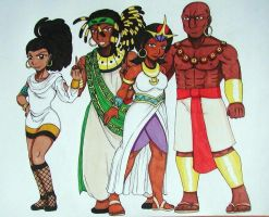 Tamre's Elite Four by Punkkis-chan
