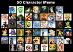 50 Character Meme by typhlosion64