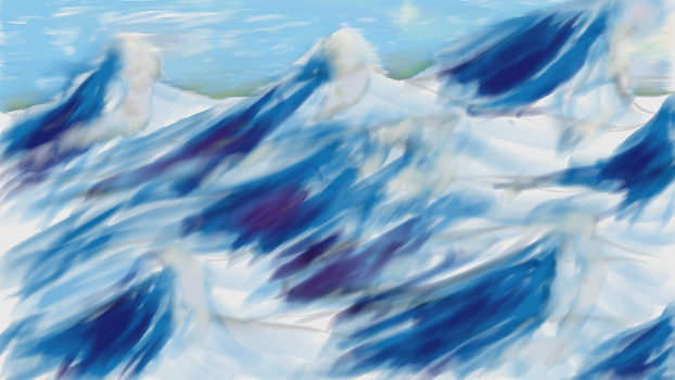 Wind swept mountains by Kippur