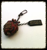 SOLD OUT: Steampunk Heart Keychain by random-wish
