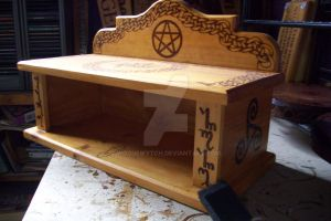 Celtic Wiccan Goddess Altar by WOODEWYTCH