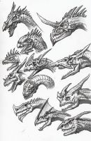 Dragon Sketches 03 by DSil