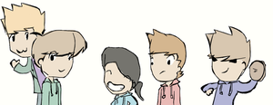 Edd,Tom,Matt,Tord and me by Glytzy