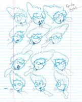 Pepper Ann Head drawings by Orbcreation