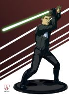 The 30 years-old Jedi by grimorioilustrado