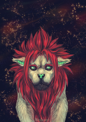 Cyberlion spacey yo by Sharkosaur